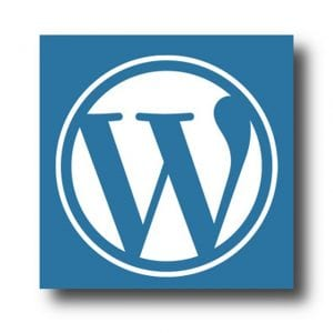 WordPress Blue W