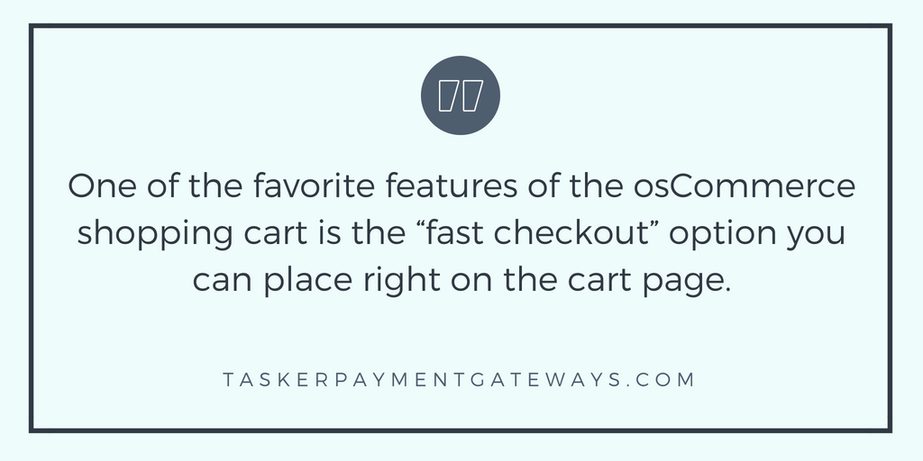 osCommerce shopping cart quote image infographic
