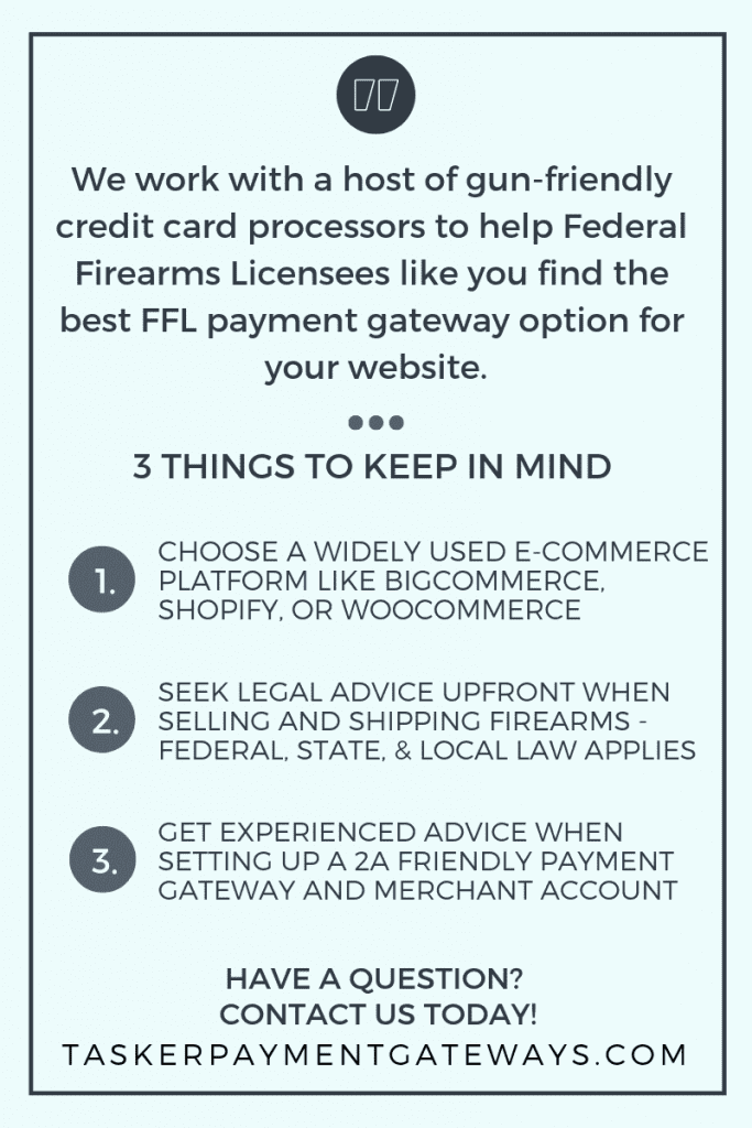 FFL Infographic - 3 things to keep in mind - tasker payment gateways