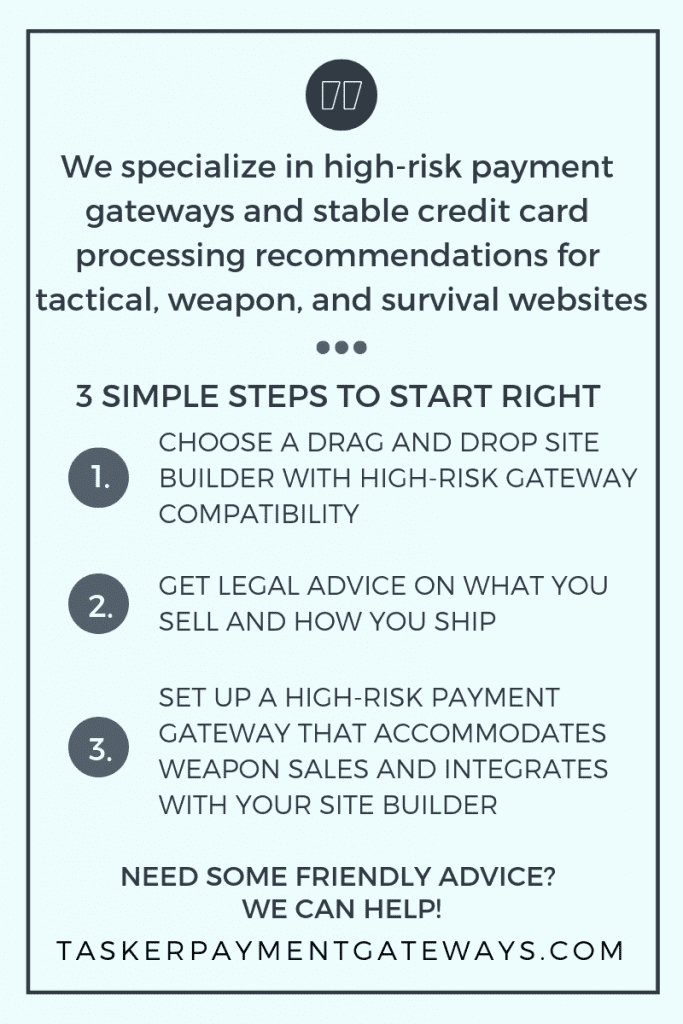 tactical Infographic - 3 simple steps to start right - tasker payment gateways