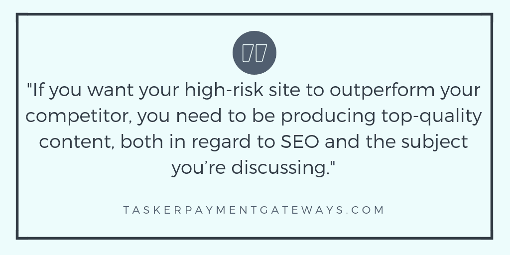 tasker payment gateways - YMYL - quote image - high-risk SEO