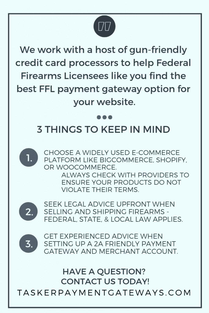 FFL friendly payment gateways   Tasker Payment Gateways LLC