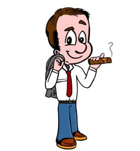 Tasker with a cigar