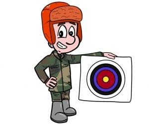 Tasker holding a target