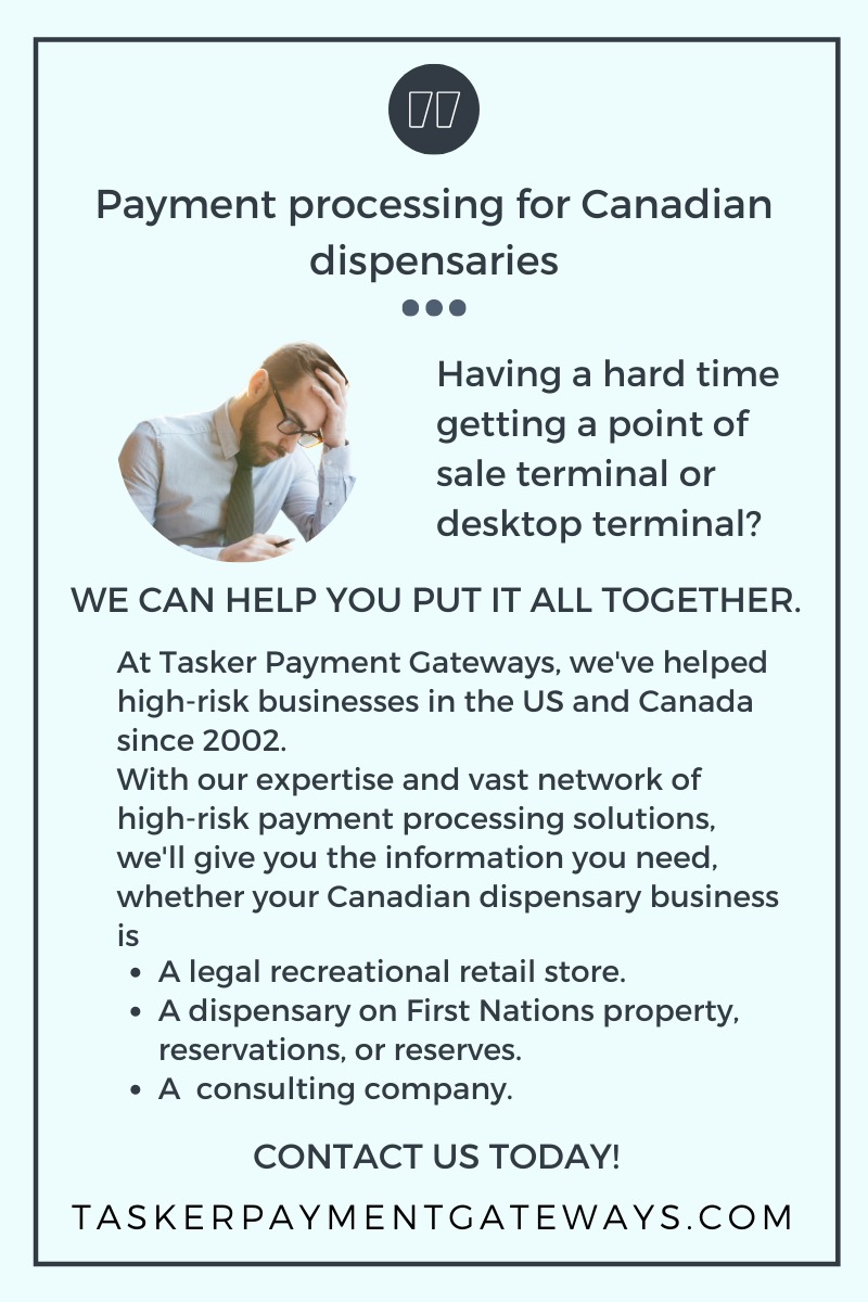 Payment processing for Canadian dispensaries - infographic